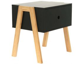 Table de chevet scandinave empilable (Noir)