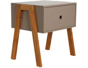 Table de chevet scandinave empilable (Taupe)