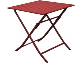 Table pliante en aluminium Lorita 70cm (Rouge)