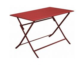 Table pliante en aluminium Lorita 110 cm (Rouge)