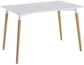 Table repas rectangulaire scandinave 115 x 75 cm