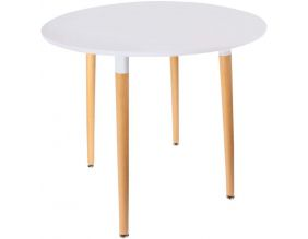 Table repas ronde 76 cm Scandi