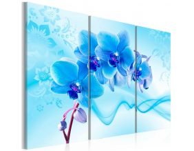 Tableau - Ethereal orchid - blue (120x80)