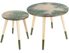 Tables gigognes Jungle (Lot de 2)