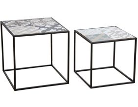 Tables gigognes Mosaïque (Lot de 2)
