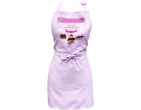 Tablier polyester Mes petites gourmandises (Rose)