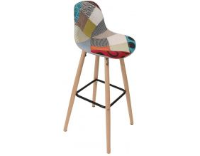Tabouret de bar scandinave patchwork