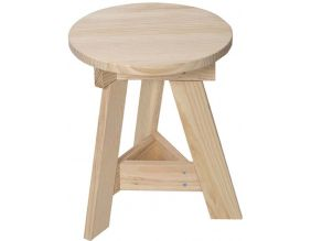 Tabouret bas en pin massif One