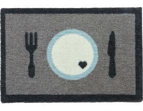 Tapis paillasson chien et chat A table