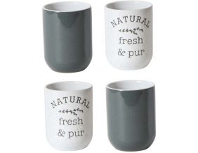 Tasse expresso My Little Market (Lot de 4) (Gris - blanc)