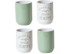 Tasse expresso My Little Market (Lot de 4) (Vert clair - blanc)
