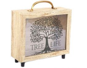 Tirelire valisette Tree of life 21 x 20 cm