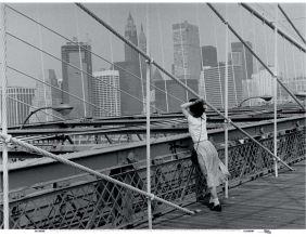 Toile Imprimée Le Pont De Brooklyn - New York - E. Boubat 70x50 cm