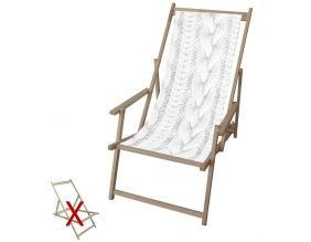 Toile pour chilienne Pull blanc en polyester