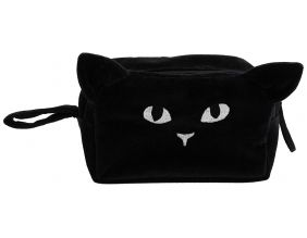 Trousse de toilette en velours Chat César