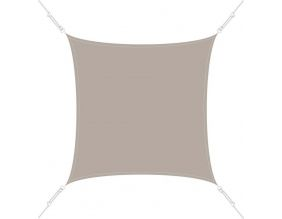 Voile d'ombrage carrée 4 x 4m (Taupe)