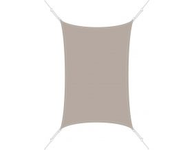 Voile d'ombrage rectangle 3 x 4,5m (Taupe)