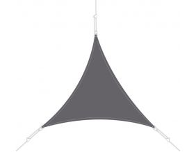 Voile d'ombrage triangle 5x5x5m (Ardoise)