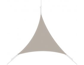 Voile d'ombrage triangle 5x5x5m (Taupe)