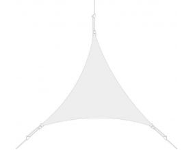 Voile d'ombrage triangle 5x5x5m (Blanc)