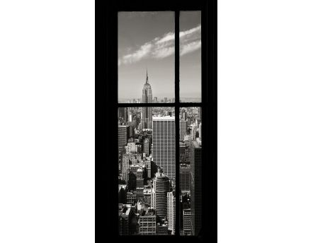 Affiche L'Empire State Building vu du Rockefeller Center New York