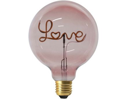 Ampoule ronde LED love rose 17 cm