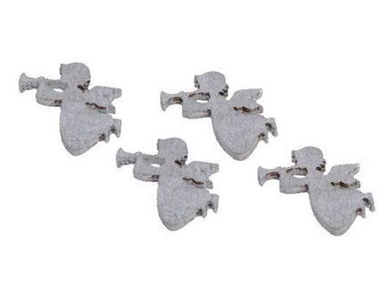 Anges à poser déco de table (Lot de 24) (Argent)