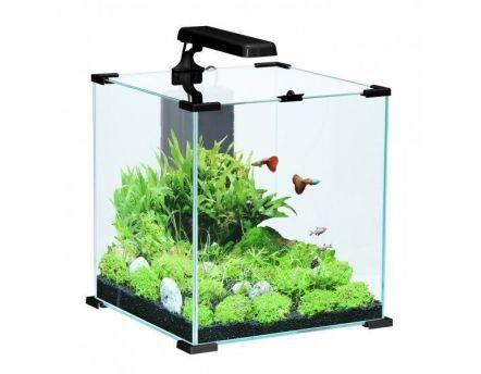 Meuble pour aquarium aqua 80x30 cm noir for Meuble 80x30