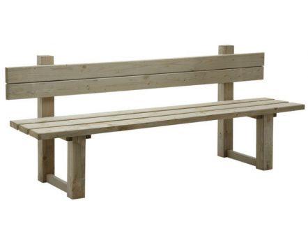 de jardin avec dossier en bois traité autoclave vert gris