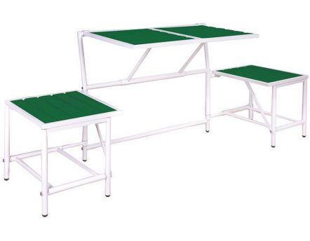 Salon de jardin salon de jardin en aluminium - Table de jardin plastique vert saint paul ...