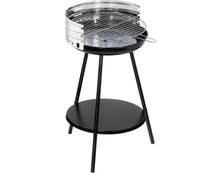 Barbecue à charbon rond en inox New clasic (Surface cuisson 42cm)