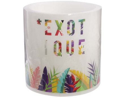 Bougie LED Exotique 15 cm (Exotique)