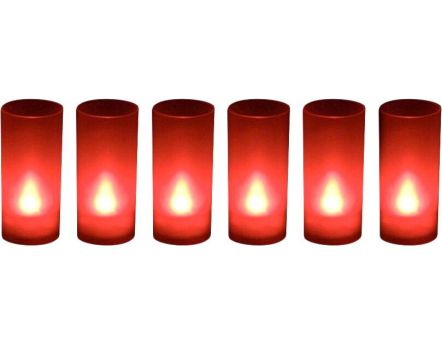 Bougies LED souffle (Lot de 6) (Rouge)