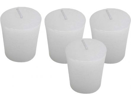 Bougies Oslo (Lot de 4) (Blanc)
