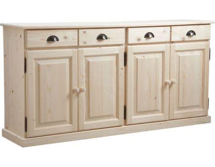 Petit meuble d 39 angle en bois brut petits meubles d 39 angle for Petit meuble tiroir bois brut