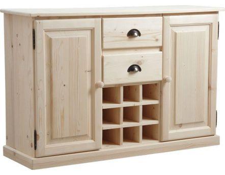 meuble biblioth que bois brut. Black Bedroom Furniture Sets. Home Design Ideas