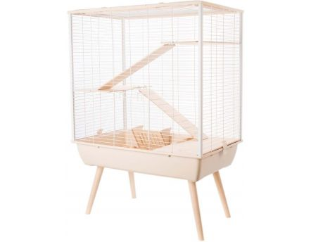 Cage Neo cosy pour grands rongeurs 80 cm (Beige)