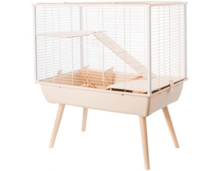 Cage Neo muky pour grands rongeurs 58 cm (Beige)