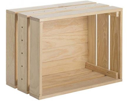 Caisse en pin massif modulable Home box (Grande)
