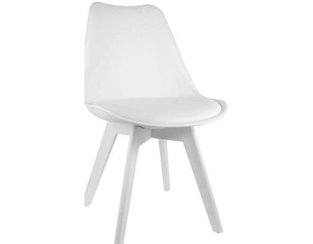 Chaise unicolore design (Blanc)