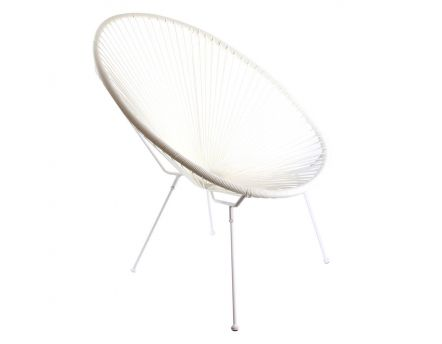 Chaise design en polyethylène Mexico (Blanc)