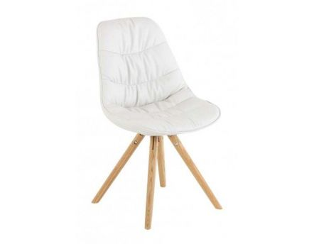 Chaise repas design Lotus (Lot de 2) (Blanc)