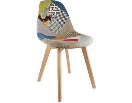 Chaise scandinave Patchwork (Multicolore)