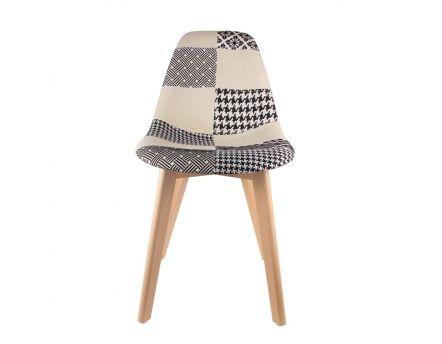 fauteuil scandinave patchwork noir blanc. Black Bedroom Furniture Sets. Home Design Ideas