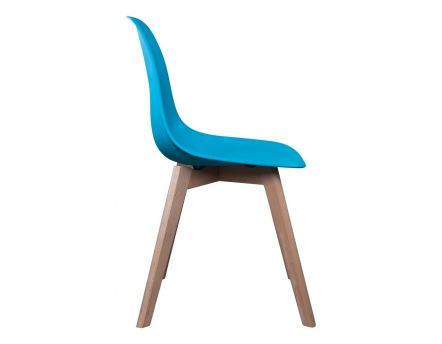 Chaise scandinave coque polypropylène (Bleue canard)