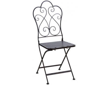 chaise en rotin et m tal ma a naturel. Black Bedroom Furniture Sets. Home Design Ideas