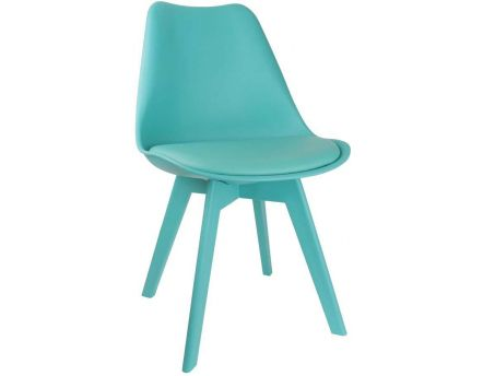 Chaise unicolore design (Lot de 2) (Turquoise)