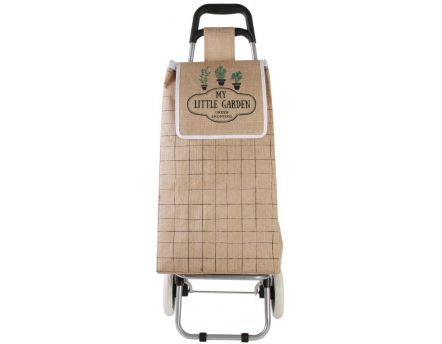 Chariot shopping en jute My Little Market (Carreaux)