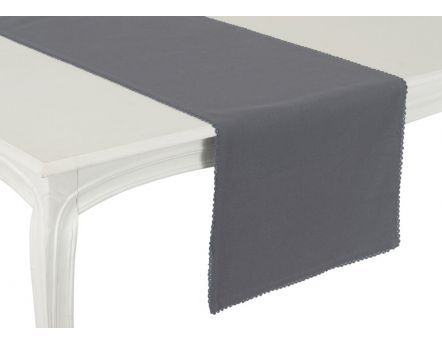 Chemin de table anthracite Capucine