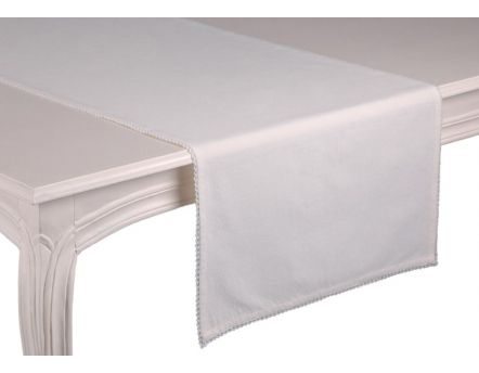 Chemin de table blanc Capucine